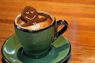 Gingerbread man taking a dip. made this easy any hot chocolate,marshmallow, and a store bought gingerbread man. Mini Desserts, I Love Coffee, Coffee Break, Morning Coffee, Sunday Morning, Gingerbread Man, Gingerbread Cookies, Café Chocolate, Pause Café
