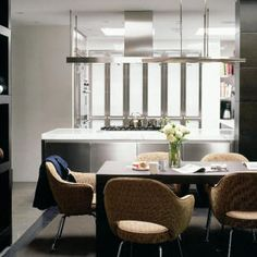 Units Plain & Simple Kitchens Table Habitat Chairs Content by Conran Mirror Graham & Green