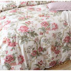 Charlton Home Haitham Peony Toile Duvet Cover Set White Bedroom Decor, Bedroom Drapes, White Decor, Master Bedroom, Bedrooms, Girls Bedding Sets, Duvet Sets, Duvet Cover Sets, Ruffle Bedding