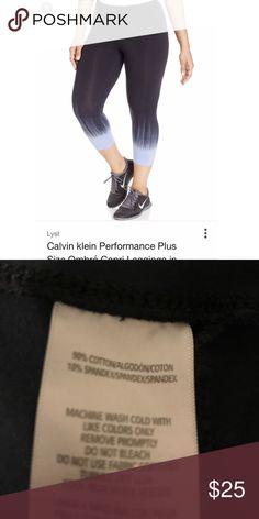 Calvin Klein ombré legging - Size XXL Calvin Klein ombré legging - Size XXL. Very stretchy, worn once, excellent condition. Ombré goes from navy to light blue. Smoke/pet free home. Calvin Klein Pants Leggings