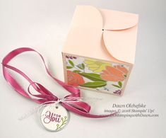 Square Gift Box Altered Lots to Love Box Framelits from Stampin' Up! created by Dawn Olchefske Love Box, Paper Crafts, Diy Crafts, Treat Holder, Alters, Your Cards, Dawn, Stampin Up, Card Boxes