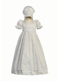 88.52$  Watch now - http://alij39.worldwells.pw/go.php?t=32641146905 - 2016 High Quality Todder Baby Infant Christening Dress Baptism Gown Girl Boy Lace Applique WITH BONNET 0 3 6 9 12 18 24month