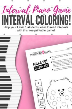 Teaching your students to recognize the relationships between notes is key to note-reading fluency. Get started with this Level 1 coloring printable Preschool Music Lessons, Music Activities For Kids, Music Lesson Plans, Music For Kids, Piano Teaching, Teaching Kids, Teaching Resources, Piano Practice Chart, Piano Music With Letters