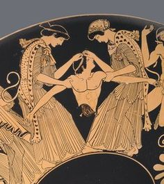 The death of Pentheus'; detail of a red-figure cup by the Athenian painter Douris, circa 480 BC Kimbell Art Museum, Fort Worth/Art Resource