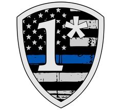 """Tattered Police 4"""" Thin blue line decal 1* 1 Asterisk Tatteres USA Flag Decal"""