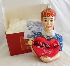 "New in Box Kurt Adler 6"" Polonaise Glass Ornament Hand Blown I Love Lucy"