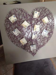 Herz Geldgeschenk