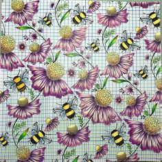 B Dream Book Joyous Blooms To Color Artist Elerifowlerillustrator Bee Beedream Abelha Abelhas Flowersandbees Elerifowler Joyousbloomstocolor