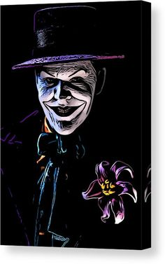 The Clown Prince Canvas Print / Canvas Art by Jeremy Guerin Bad Meaning, Joker Art, Mark Hamill, Comic Styles, Toys Photography, Got Print, Stretcher Bars, A Comics, Stretched Canvas Prints