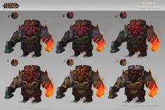 "ArtStation - Ornn ""The Fire below the mountain"" - Concept Art- League of Legends, Daniel Orive"