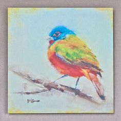 colorful bird art