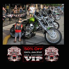 Kid looking at motorcycles at the 2014 Ohio Bike Week - 2015 dates are May 29 to June 7  ----------  TWO DAYS LEFT and ONLY 30 out of 500 of the 50% OFF DISCOUNT VIP Passes are Left!  -----------  (50% offer until tickets are gone or Jan. 31st)  --------  **Tickets www.ohiobikeweek.com/event-tickets.php -------- #ohiobikeweek #ohiobikeweekdiscount #ohbikeweek #bikeweekohio