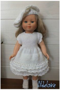 mf22 Knitting Dolls Clothes, Doll Clothes, Petit Collin, Southern Belle, Marie, Crochet Hats, Flower Girl Dresses, Wedding Dresses, Doll Outfits