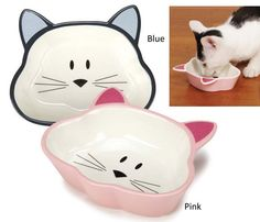 CERAMIC CAT DISH, Cat is Good, Food Bowl 5oz, Cat Shaped Feeder in Pet Supplies, Cat Supplies, Dishes, Feeders & Fountains | eBay