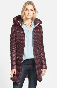 Laundry by Shelli Segal Packable Hooded Down Coat available at #Nordstrom