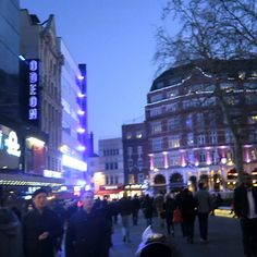 Leicester Square at night looks cool #london #leicestersquare #londoner #londonlife