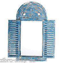 Spiegel-Spiegelfenster mit Jalousie Louvre blau   eBay