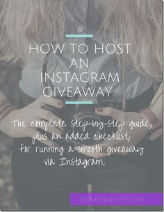 How to Host an Instagram Giveaway: Free eBook and Checklist