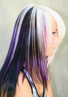 Purple, Platinum and Black Hair! Every time I see her, I just Love her hair!! A Team Beauty Hair Salon, Grand Junction