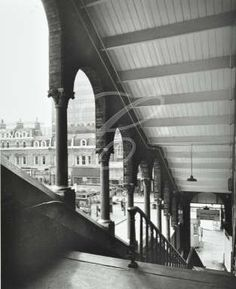 Broad Street Railway Station: view from top of the East staircase, 1977