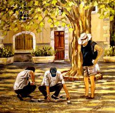 Les Joueurs de Pétanque - Mes peintures - speederpeintre - Photos ...