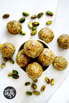 Gluten-Free Vegan Pistachio Sesame Seed Balls | The Healthy Family and Home