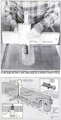 Table Saw Box Joint Jig Plans - Joinery Tips, Jigs and Techniques   WoodArchivist.com