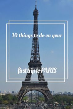 If you are planning your first trip to Paris, here are the 10 best things to do to enjoy Paris - with a twist to make it just that bit more special!