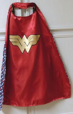 Wonder Woman cape. Wonder Woman superhero cape.  FREE personalization offered.. $25.00, via Etsy.