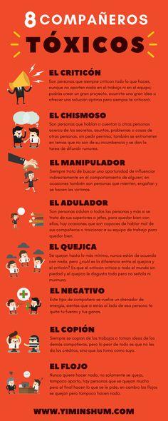 Hola: Una infografía con8 compañeros de trabajo tóxicos. Vía Un saludo  Anuncios Relacionado