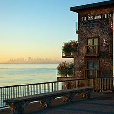 6 Romantic Inns by the Sea: The Inn Above Tide in Sausalito has luxurious soaking tubs and amazing views of San Francisco and sailboats on the beautiful blue water. Coastalliving.com