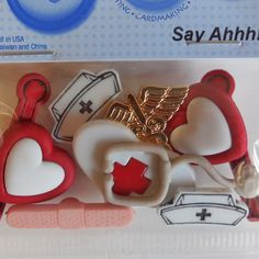 Say Ahhh! Nurse Buttons
