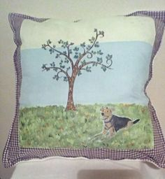 memorial cushion, commissioned order