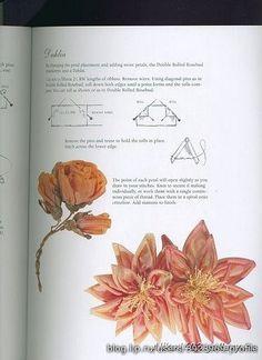 Wandafull Ribbon embroidery Kit Handmade Red Rose (No frame) - Embroidery Design Guide Ribbon Flower Tutorial, Ribbon Embroidery Tutorial, Silk Ribbon Embroidery, Embroidery Patterns, Embroidery Thread, Ribbon Art, Diy Ribbon, Ribbon Crafts, Flower Crafts
