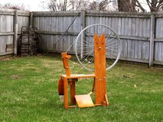 This is great! It is a spindle wheel just like the Great Wheel only you sit at it like a Saxony! Very easy and affordable to make too! Thrifty Fox Spinning Wheel  DIGITAL PDF PLANS by MysticFoxHollow, $14.99