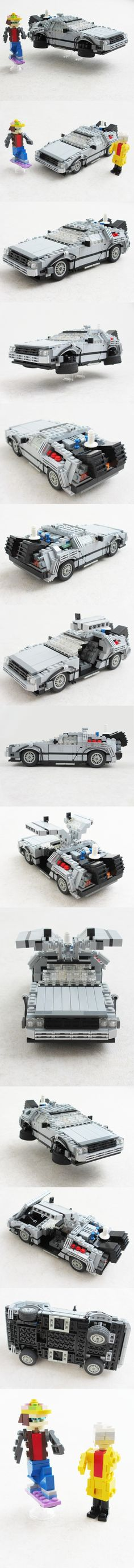 LEGO DeLorean from Back to the Future