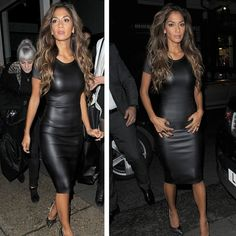 Women Bandage Dress PU Dress Leather Short Sleeve Sexy Party Bodycon Dress