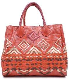 Rouge Ikat Tote | Emma Stine Jewelry Set