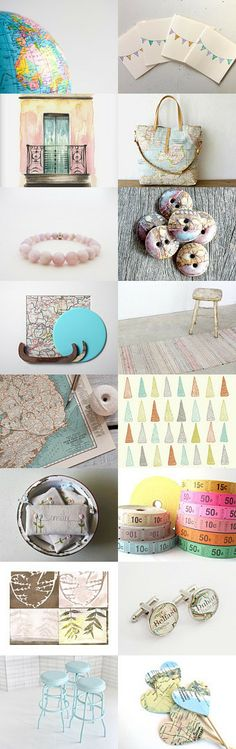 Map It by Brittany on Etsy
