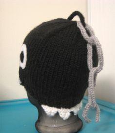 Mario Chain Chomp Hat #knitting #pattern #free
