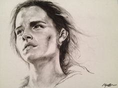 Hermione Charcoal Drawing by Sampl3dBeans.deviantart.com