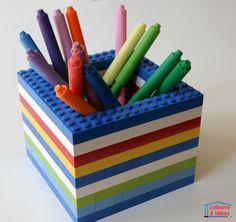 Porte-crayons Lego | La cabane à idées