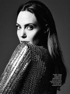 Angelina Jolie by Hedi Slimane for Elle US 2014