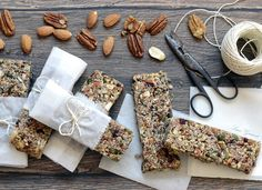 Baked Nut Bars by Lucie Grusová Nut Bar, Whole 30, Dairy, Low Carb, Healthy Recipes, Cheese, Baking, Sweet, Food