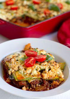 Show-off Paleo lasagna! Super lean meal that is FULL of veggies.