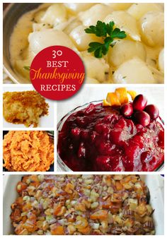 30 Best Thanksgiving Side Dishes - the best recipes for the perfect Thanksgiving Dinner! holiday recipes