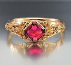 Antique Victorian Bracelet Austin & Stone Gold Filled Bangle Bracelet Ruby Glass Hinged Bracelet Victorian Jewelry Antique Jewelry