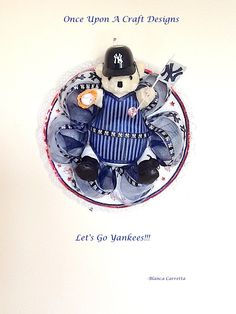New York Yankees Inspired Bear by OnceUponcraftdesigns on Etsy