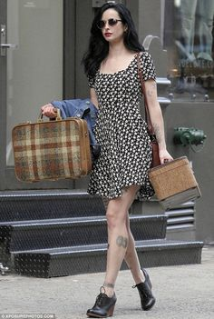Inked for her art: Krysten was recently spotted in New York filming a few scenes for Asthma