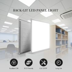 Economic LED Backlit Panel Light 60*60CM 60*120CM 30*120CM LED Flat Panel Lamps for Most Indoor Area for Commercial Lighting, Office, School, Subway, Public area, Reidential lighting and Industrial lighting,etc. ~Email:jasmine@cnmdled.com ~Whatsapp: 86 13682480819 ~Web: www.cnmdled.com #MDL#MDLTECHNOLOGY#Economic #Backlit #LED#Recessed#Panel #Flat #Light #Indoor #Building #Project#Construction High reliability: Stable optical parameter, use PC secondary optical lens, will not be… Led Tubes, Solar Lamp, Led Panel Light, Commercial Lighting, Industrial Lighting, Downlights, Lamp Light, Bulb, Indoor